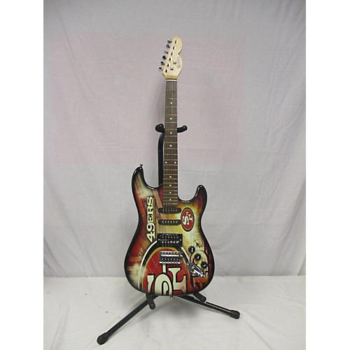 Woodrow Guitars Northender Solid Body Electric Guitar San Fransisco 49er's