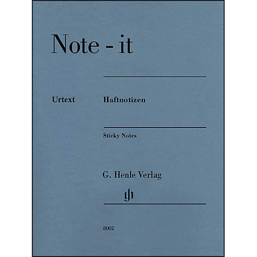 G. Henle Verlag Note-It Sticky Notes By Henle