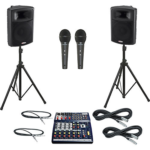 Soundcraft Notepad 124 / APS15 PA Package