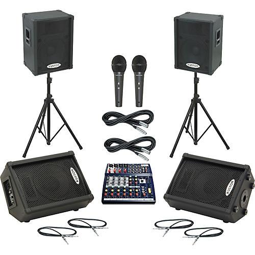 Soundcraft Notepad 124 / KPC15P Mains & Monitors Package
