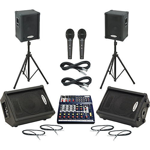 Soundcraft Notepad 124FX / KPC12P Mains & Monitors Package