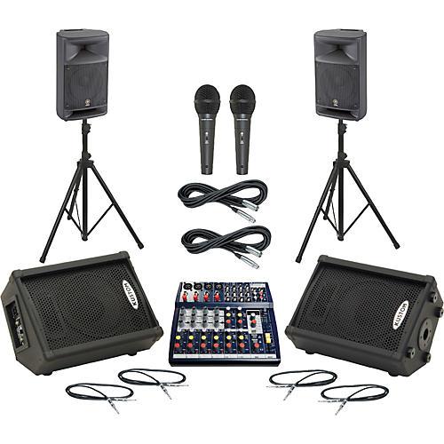 Soundcraft Notepad 124FX / MSR250 Mains & Monitors Package