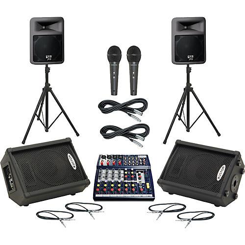 Soundcraft Notepad 124FX / PR12D Mains & Monitors Package