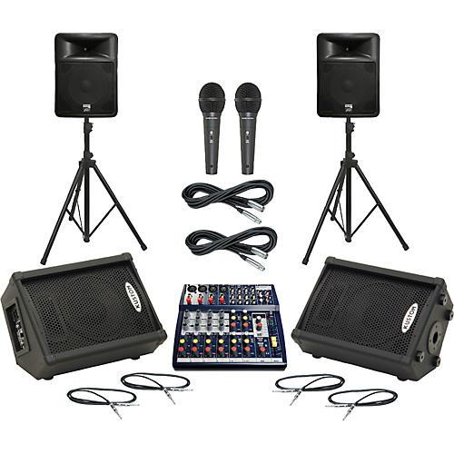 Soundcraft Notepad 124FX / PR15D Mains & Monitors Package