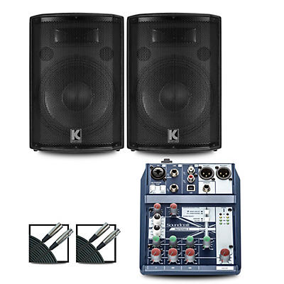 Soundcraft Notepad-5 Mixer and Kustom HiPAC Speakers
