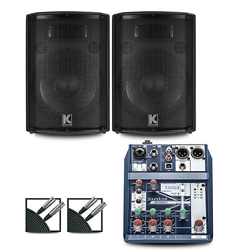 Soundcraft Notepad-5 Mixer and Kustom HiPAC Speakers 12