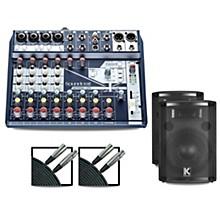 Soundcraft Notepad12FX Mixer and Kustom HiPAC Speakers