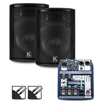 Soundcraft Notepad12FX Mixer and Kustom HiPAC Speakers