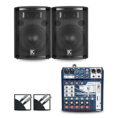 Soundcraft Notepad8FX Mixer and Kustom HiPAC Speakers