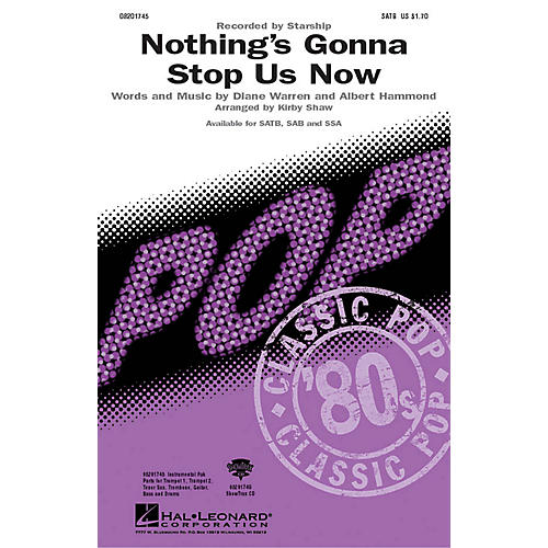 Hal Leonard Nothing's Gonna Stop Us Now Combo Parts by Starship Arranged by Kirby Shaw