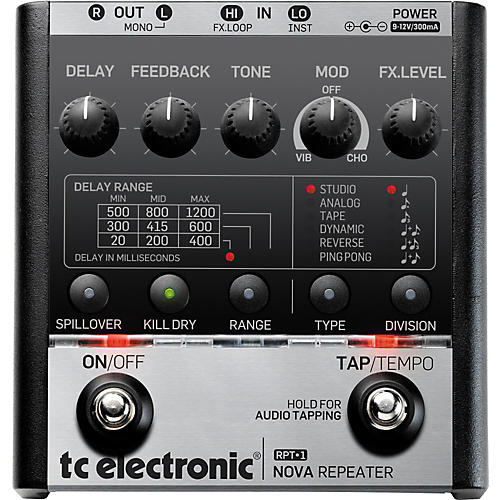 TC Electronic Nova Repeater Delay Guitar Effects Pedal