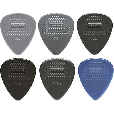 Dunlop Nylon Max Grip Guitar Picks - 12-Pack