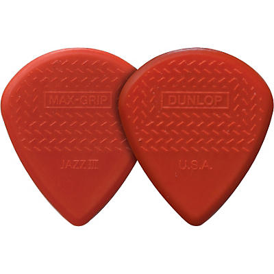 Dunlop Nylon Max Grip Jazz III Guitar Picks 6-Pack