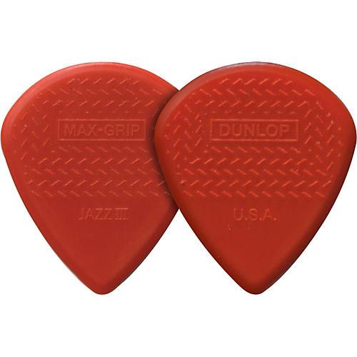 Dunlop Nylon Max Grip Jazz III Guitar Picks 6-Pack