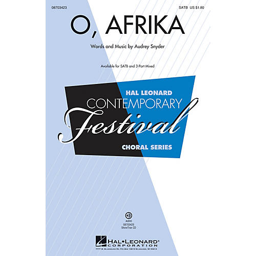 Hal Leonard O, Afrika SATB composed by Audrey Snyder