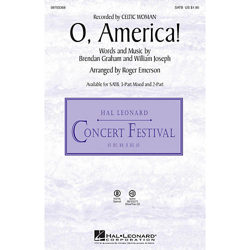 Hal Leonard O, America! 3-Part Mixed Arranged by Roger Emerson