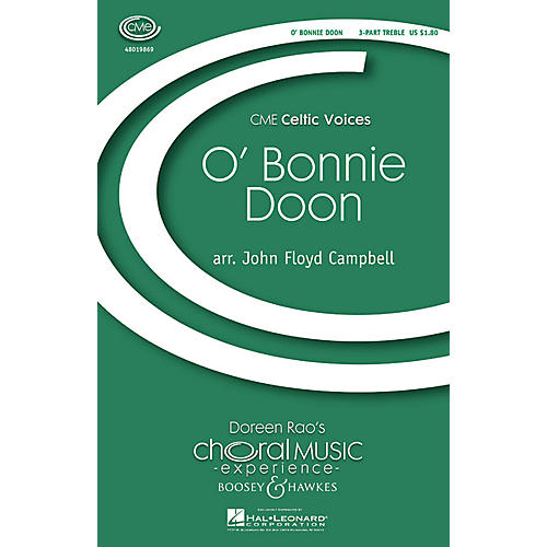 Boosey and Hawkes O' Bonnie Doon (CME Celtic Voices) 3 Part Treble arranged by John Floyd Campbell