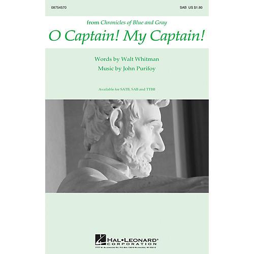 Hal Leonard O Captain! My Captain! SAB composed by John Purifoy
