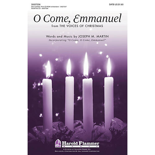 Shawnee Press O Come, Emmanuel (from The Voices of Christmas) SATB composed by Joseph M. Martin