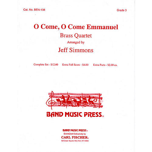 Band Music Press O Come, O Come Emmanuel Concert Band Level 3 Arranged by Jeff Simmons