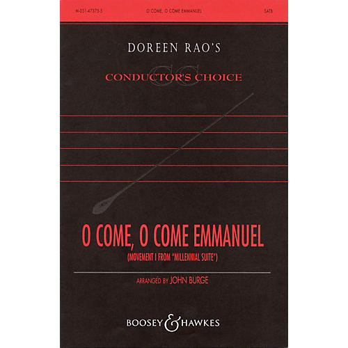 Boosey and Hawkes O Come, O Come Emmanuel (No. 1 from Millenial Suite) SATB, Organ composed by John Burge