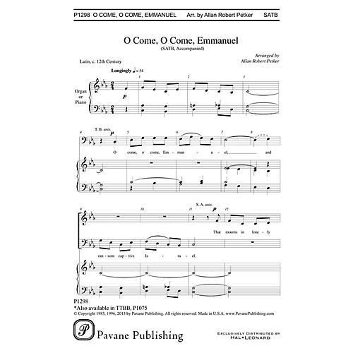 Pavane O Come, O Come Emmanuel SATB arranged by Allan Robert Petker