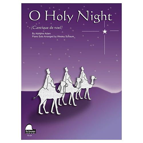 SCHAUM O Holy Night Educational Piano Series Softcover