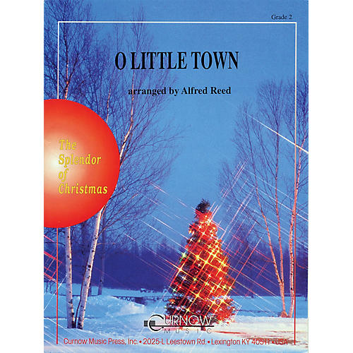 Curnow Music O Little Town (Grade 2 - Score Only) Concert Band Level 2 Arranged by Alfred Reed