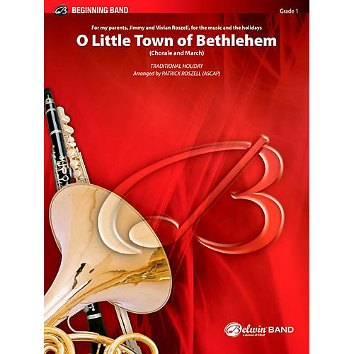 BELWIN O Little Town of Bethlehem Concert Band Grade 1 (Very Easy)