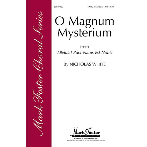 Shawnee Press O Magnum Mysterium SATB a cappella composed by Nicholas White