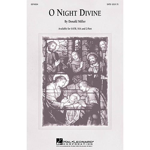 Hal Leonard O Night Divine SSA Arranged by Donald Miller