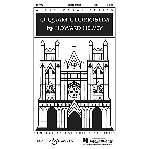 Boosey and Hawkes O Quam Gloriosum SATB a cappella composed by Howard Helvey