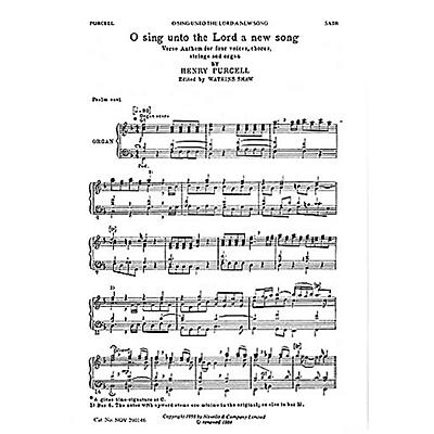 Novello O Sing unto the Lord SATB Composed by Henry Purcell
