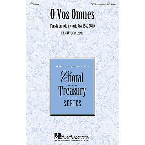 Hal Leonard O Vos Omnes SATB a cappella composed by Tomás Luis de Victoria