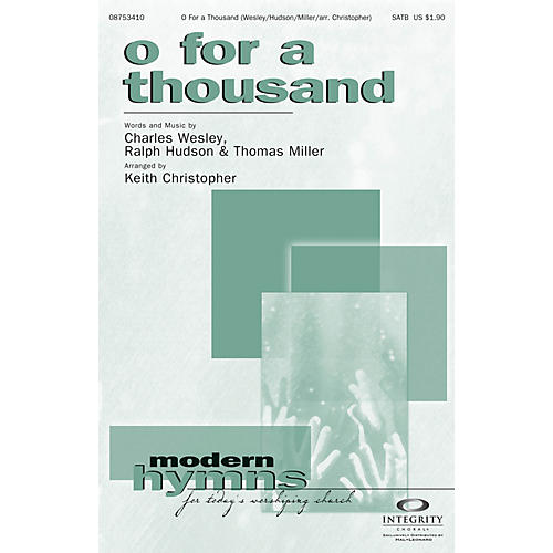 Integrity Choral O for a Thousand CD ACCOMP Arranged by Keith Christopher