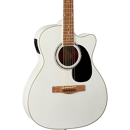 Mitchell O120CEWPM Auditorium Acoustic-Electric Guitar White Pearl Metallic