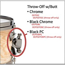 Orange County Drum & Percussion OCPSDTOBPC SNARE THROW OFF BLK PWD COAT