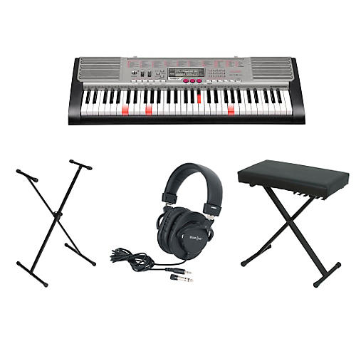 Casio OLD LK-230 61-Key Lighted-Note Keyboardwith Bench, Stand, & Heaphones