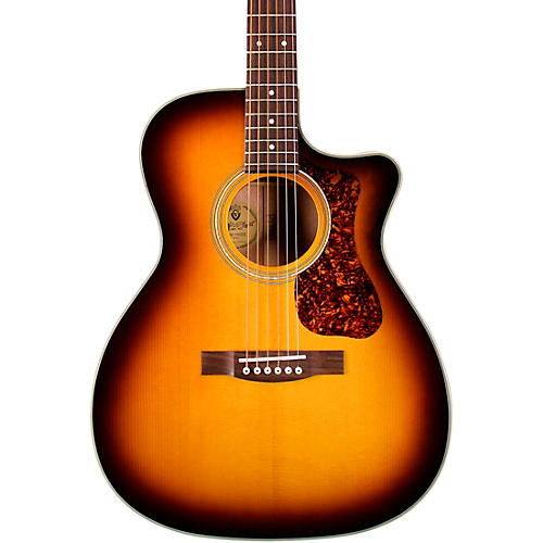 Guild OM-140CE Westerly Collection Orchestra Acoustic-Electric Guitar Antique Burst