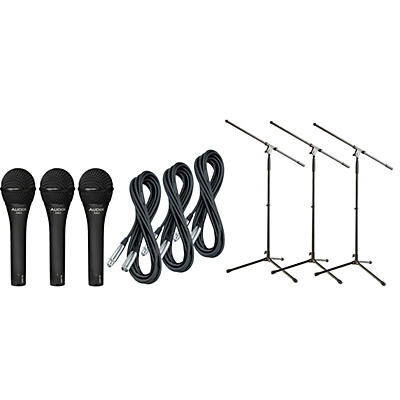 Audix OM-2 Mic with Cable and Stand 3 Pack