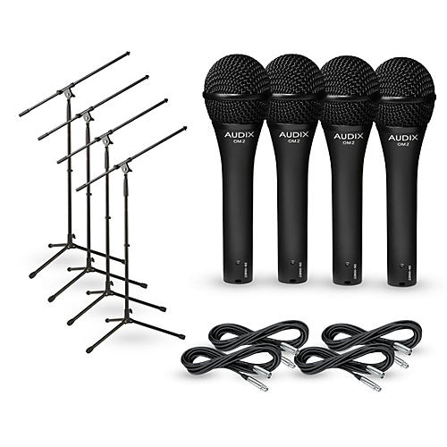 Audix OM-2 Mic with Cable and Stand 4 Pack