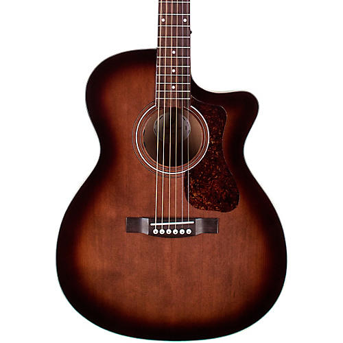 Guild OM-240CE Orchestra Acoustic-Electric Guitar Charcoal Burst