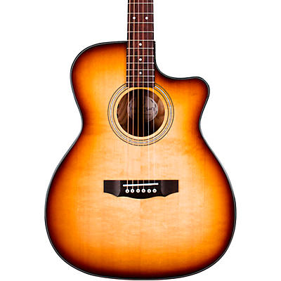 Guild OM-260CE Deluxe Burl Orchestra Cutaway Acoustic-Electric Guitar