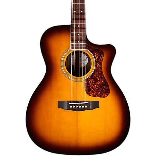 Guild OM-260CE Deluxe Orchestra Cutaway Acoustic-Electric Guitar Antique Burst