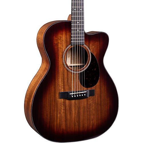 Martin OMC-16E 16 Series Ovangkol Burst Acoustic-Electric Guitar Natural