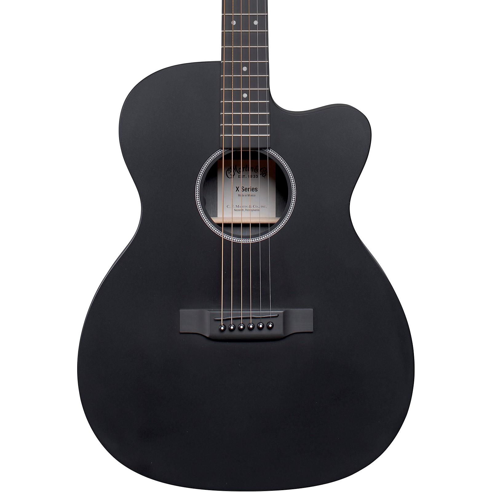 Martin OMC-X1E HPL Orchestra Acoustic-Electric Guitar Black