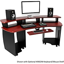 Open Box Omnirax OmniDesk Audio/Video Editing Workstation - Mahogany