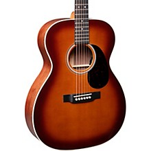 Open BoxMartin OOOE Black Walnut Ambertone Auditorium Acoustic-Electric Guitar