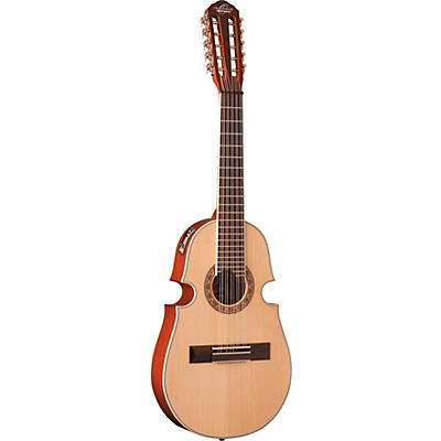 Oscar Schmidt OQ40SE-O Acoustic Electric Cuatro 10 String Guitar