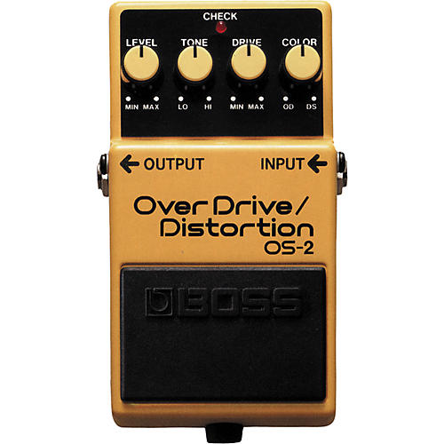 boss os 2 overdrive distortion guitar effects pedal musician 39 s friend. Black Bedroom Furniture Sets. Home Design Ideas